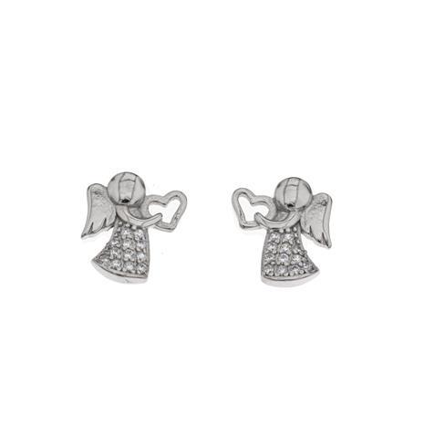 Silver Bar 2886 Love enkeli korvakorut