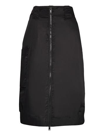 Ganni Outerwear Nylon Polvipituinen Hame Musta Ganni BLACK