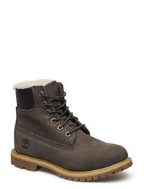 Timberland 6in Prem Shearling Dk Gry Shoes Boots Ankle Boots Ankle Boot - Flat Timberland TORNADO