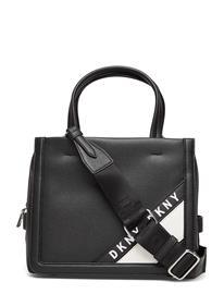 DKNY Bags Bond-Sm Satchel Bags Top Handle Bags Musta DKNY Bags BLACK/SILVER