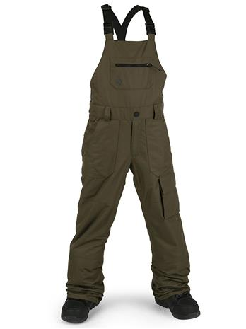 Volcom Barkley Bib Pants black military Jätkät