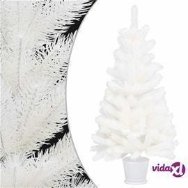 vidaXL Tekojoulukuusi ruukulla valkoinen 90 cm PE