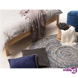 Beliani Pyöreä matto 140cm beige/sininen LEVENTLER