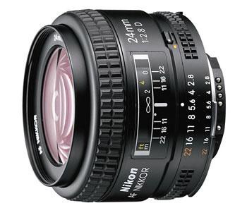 Nikon AF-D Nikkor 24mm f/2.8, objektiivi