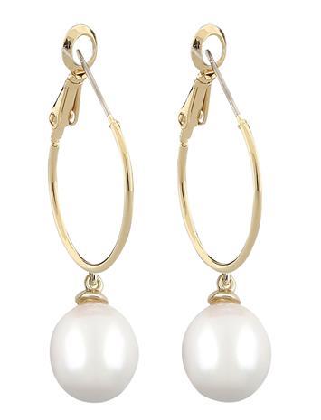 SNä– of Sweden Celine Ring Ear G/White Korvakoru Korut Kulta SNä– Of Sweden G/WHITE, Naisten hatut, huivit ja asusteet