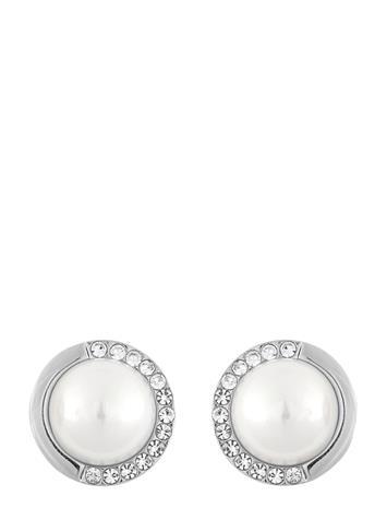SNä– of Sweden Celine Small Ear S/White Accessories Jewellery Earrings Studs Hopea SNä– Of Sweden S/WHITE, Naisten hatut, huivit ja asusteet