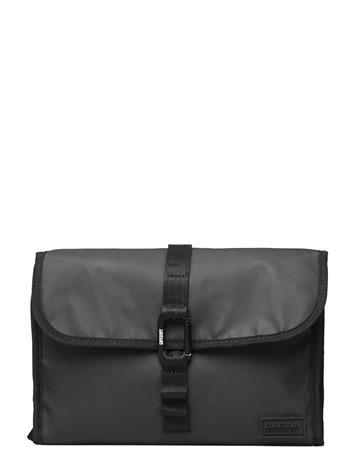 Superdry Hook Wash Bag Toilettilaukut Musta Superdry BLACK