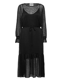 Just Female Lula Maxi Dress Polvipituinen Mekko Musta Just Female BLACK, Naisten hameet ja mekot