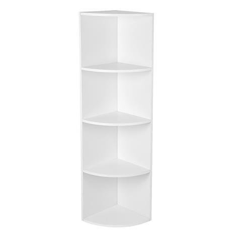 Kulmahylly 30x30x129,5 cm, valkoinen