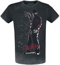 A Nightmare on Elm Street - Silouette - T-paita - Miehet - Kivihiilenharmaa