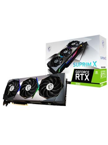 MSI GeForce RTX 3080 SUPRIM X 10 GB, PCI-E, näytönohjain