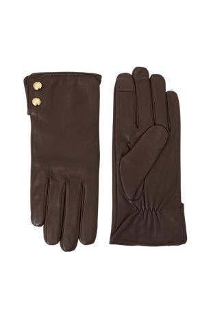 Lauren Ralph Lauren Nahkakäsineet Leather Button Glove