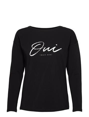Andiata Malvolia Shirt T-shirts & Tops Long-sleeved Musta Andiata BLACK