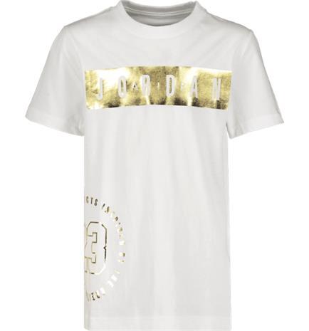 Jordan J HIGHLIGHTS TEE WHITE/GOLD