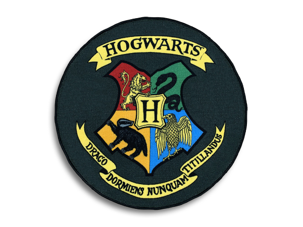 Harry Potter Hogwarts Shield, matto 100 x 100 cm