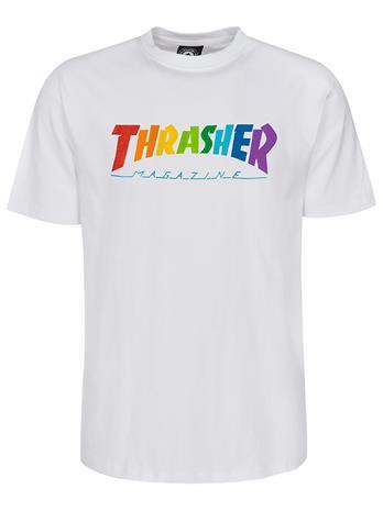 Thrasher Rainbow Mag T-Shirt white Miehet