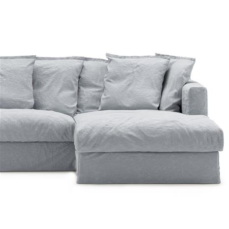 Decotique Le Grand Air Upholstery 3-Seater Divan Right Linen, Nordic Sky