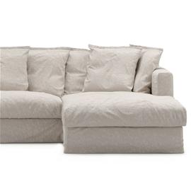 Decotique Le Grand Air Upholstery 3-Seater Divan Right Linen, Natural Blonde