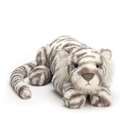 Jellycat Sacha Snow Tiger Stuffed Animal, Large