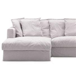 Decotique Le Grand Air Upholstery 3-Seater Divan Left Linen, Misty Grey