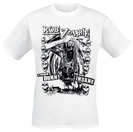 Rob Zombie - Born To Go Insane - T-paita - Miehet - Valkoinen