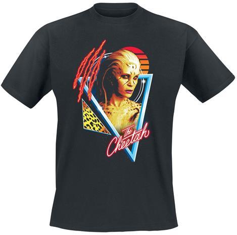 Wonder Woman - 1984 - Retro Cheetah - T-paita - Miehet - Musta