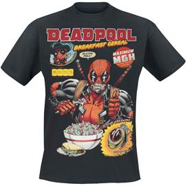 Deadpool - Breakfast Cereal - T-paita - Miehet - Musta