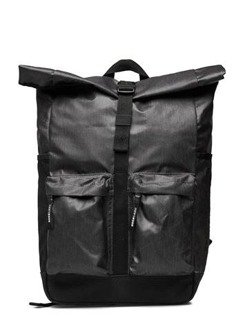 Superdry Roll Top Tarp Backpack Reppu Laukku Musta Superdry BLACK