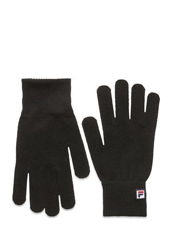 FILA Basic Knitted Gloves With F-Box Logo Hanskat Käsineet Musta FILA BLACK