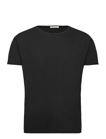 Nudie Jeans Roger Slub T-shirts Short-sleeved Musta Nudie Jeans BLACK