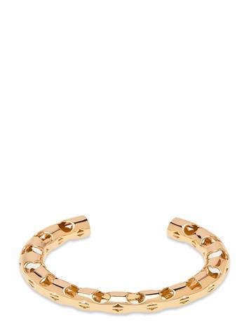Tory Burch Serif-T Fretwork Cuff Accessories Jewellery Bracelets Bangles Kulta Tory Burch TORY GOLD