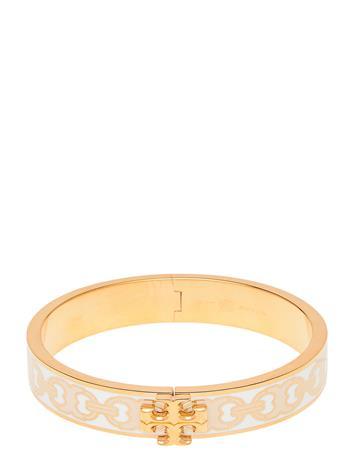 Tory Burch Kira Printed Enamel 14mm Bracelet Accessories Jewellery Bracelets Bangles Kulta Tory Burch TORY GOLD / OPTIC WHITE / TROPICAL SAND