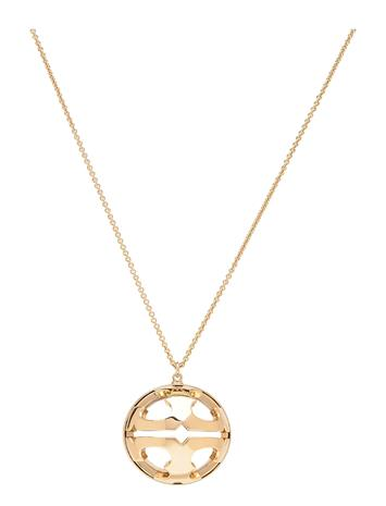 Tory Burch Bubble Miller Resin Pendant Accessories Jewellery Necklaces Dainty Necklaces Kulta Tory Burch TORY GOLD / CLEAR
