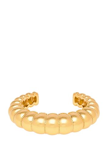 Tory Burch Milgrain Statement Cuff Accessories Jewellery Earrings Hoops Kulta Tory Burch ROLLED BRASS