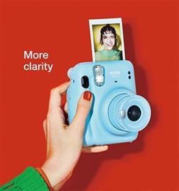 Fujifilm Instax Mini 11, polaroidkamera + Instax Mini Glossy (10pl)