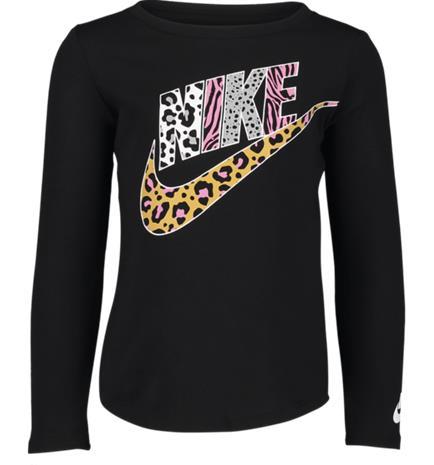 Nike K FUTURA PRINT PART LS TEE BLACK