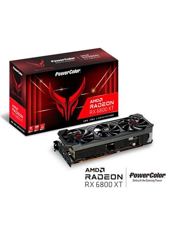 Powercolor Radeon RX 6800 XT Red Devil 16 GB, PCI-E, näytönohjain