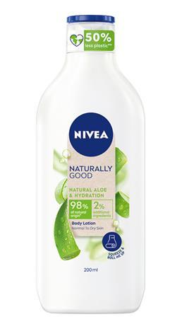 Nivea Naturally Good Aloe Vera 200 ml vartalovoide
