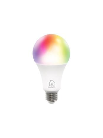 Deltaco Smarth Home SH-LE27RGB-3P, rgb-älylamput E27, 9 W, 3 kpl