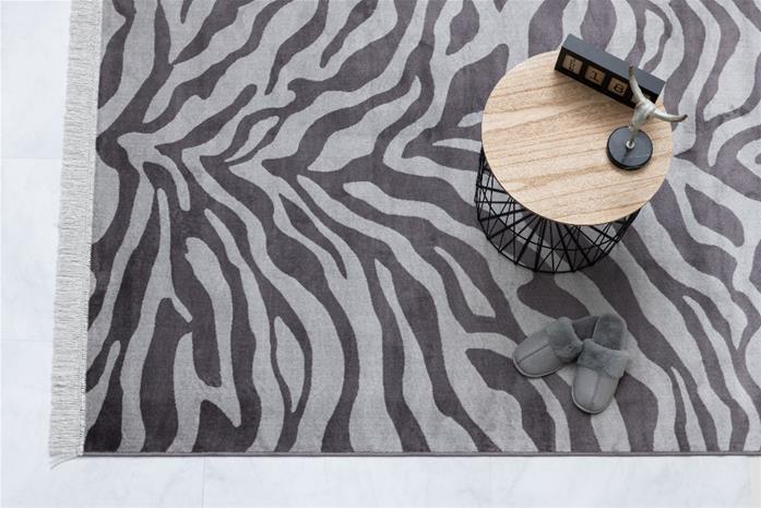 4Living Zebra -matto, musta/valkoinen, 160 x 230 cm