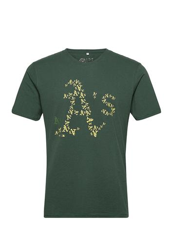 Fanatics Oakland Athletics Infill Core Graphic T-Shirt T-shirts Short-sleeved Vihreä Fanatics DARK GREEN