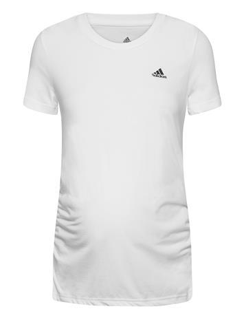 adidas Performance Maternity T T-shirts & Tops Short-sleeved Valkoinen Adidas Performance WHITE/BLACK