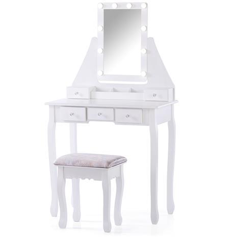 Kampauspöytä + rahi Atalia, valkoinen