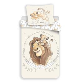 Lion King Circle-pussilakanasetti, 140 x 200 cm + 1 tyynyliina 70 x 90 cm