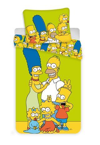 Simpsons Family-pussilakanasetti, 140 x 200 cm + 1 tyynyliina 70 x 90 cm