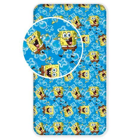 Sponge Bob -muotoonommeltu aluslakana 90 x 200 + 25 cm