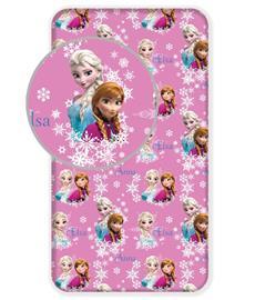 Frozen Duo Sisters -muotoonommeltu aluslakana 90 x 200 + 25 cm