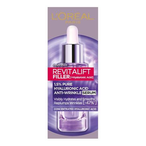 L'Oreal Paris Revitalift Filler 1,5% Hyaluronic Acid Anti-Wrinkle Serum -seerumi 30ml