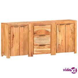 vidaXL Senkki 3 laatikolla ja 4 ovella täysi akasiapuu