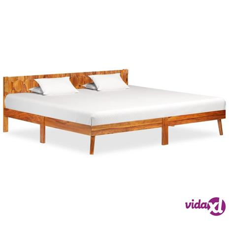 vidaXL Sängynrunko täysi seesampuu 200x200 cm